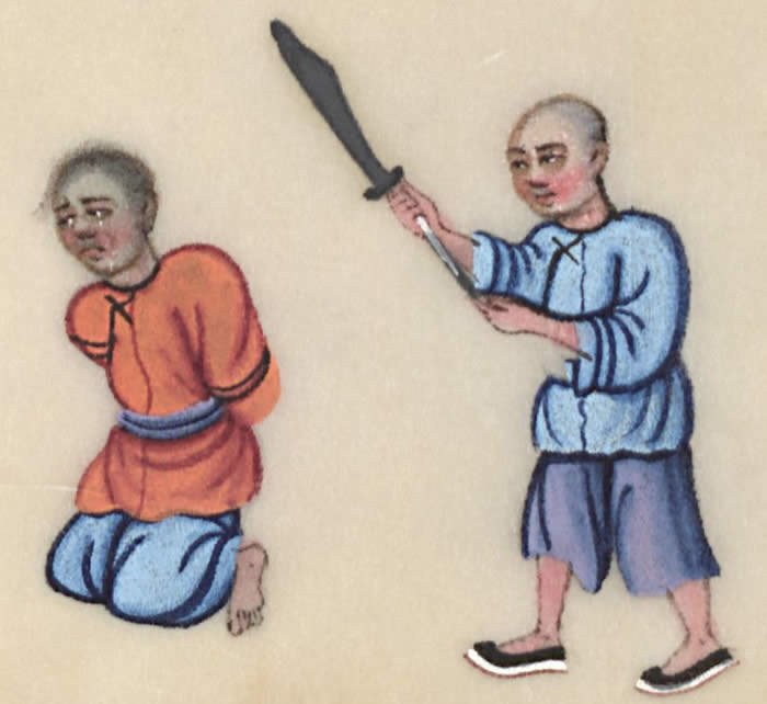 Beheading, courtesy of the Winterthur Library